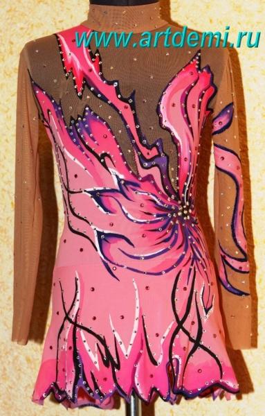 Как сделать роспись купальник для художественной гимнастики